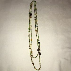 Long Glass Bead Necklace